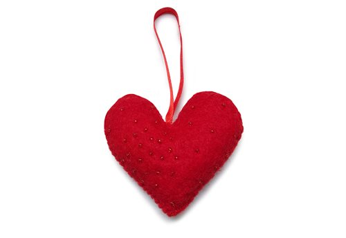 Ornament, Heart, Red