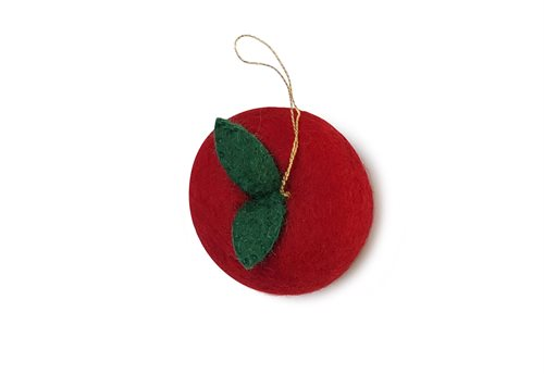 Ornament, Apple, Red
