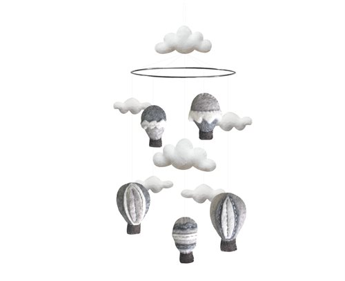 Mobile, Airballoons, Grey