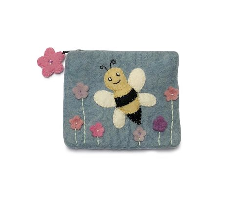 Purse, Bee, Light Blue