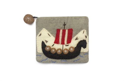 Purse, Viking Ship & Mountains