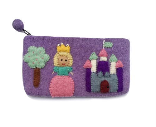 Pencil Case, Princess, Purple