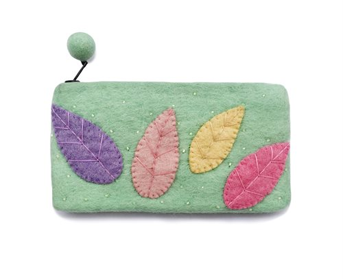 Pencil Case, Feather, Mint