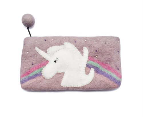 Pencil Case, Unicorn, Light Purple