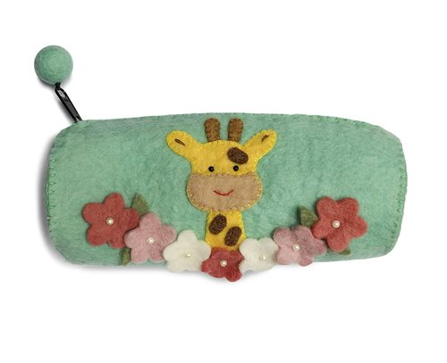 Pencil Case, Giraffe, Mint
