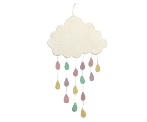 Mobile, Cloud w/ drops, Pastel