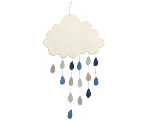 Mobile, Cloud w/ drops, Blue