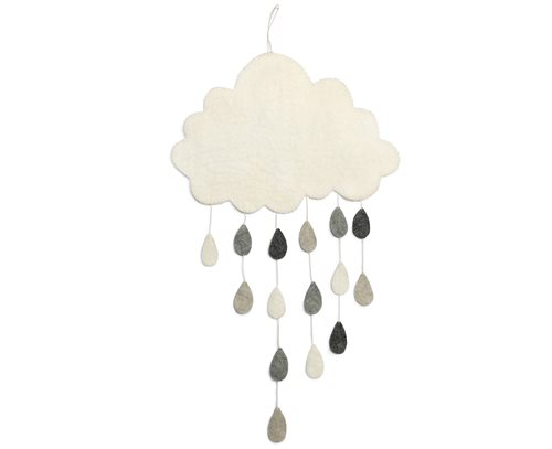 Mobile, Cloud w/ drops, Grey
